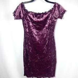 NEW! Fashion Nova Crushed Velvet Bodycon Dress
